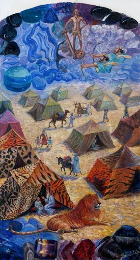 Victor BRINDATCH - Peinture - knee GADA of 12 tribes of ISRAEL