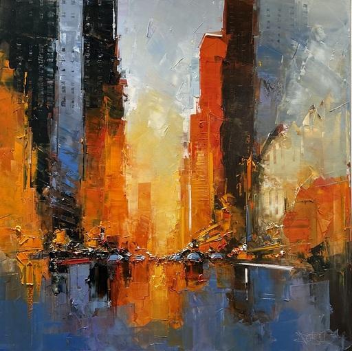 Daniel CASTAN - Peinture - MANHATAN HENGE