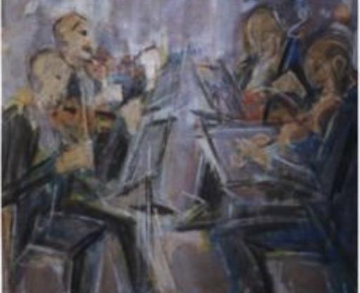 """Pere GASTO VILANOVA - Painting - """"Musicos"""""""