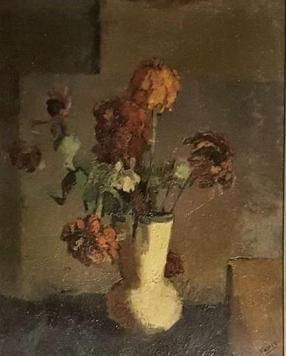 Carlo VARESE - Gemälde - fleurs dans un vase