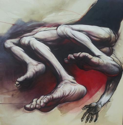 Claude DUVAUCHELLE - Pintura - Pieds et main