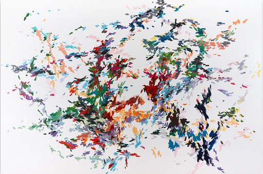 Kyong LEE - Gemälde - Record of undefined colors 22 (Abstract painting)