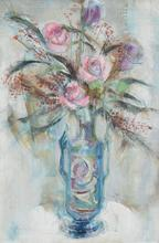 Ira MOSKOWITZ - Painting - Floral still-life
