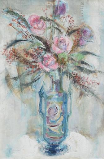 Ira MOSKOWITZ - 绘画 - Floral still-life