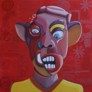 Ghazi BAKER - Painting - Red (Angry)