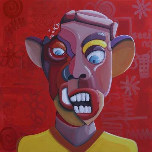 Ghazi BAKER - Gemälde - Red (Angry)