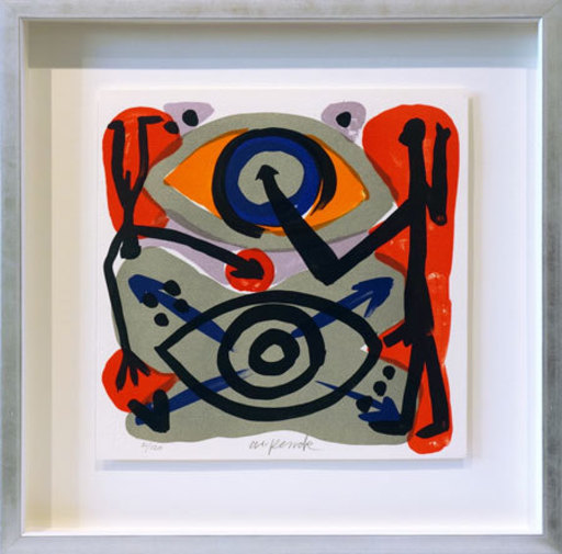 A.R. PENCK - Estampe-Multiple - Eye-to-Eye