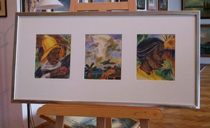 Franz WINNINGER - Dibujo Acuarela - Afrikanische Impressionen