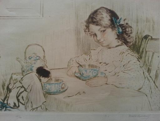 Émile A. MALO-RENAULT - Print-Multiple - Jeune fille à la tasse