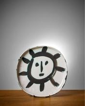 Pablo PICASSO - Céramique - Plat Soleil
