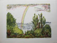 Erich HECKEL - Grabado - Regenbogen