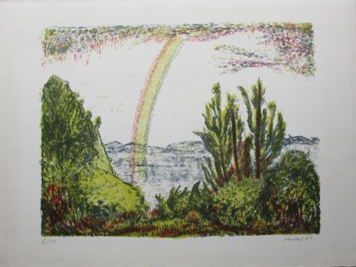 Erich HECKEL - Estampe-Multiple - Regenbogen
