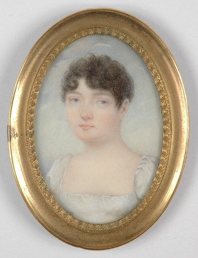 """Jean Baptiste ISABEY (Attrib.) - Miniature - """"Young Lady"""", Miniature"""