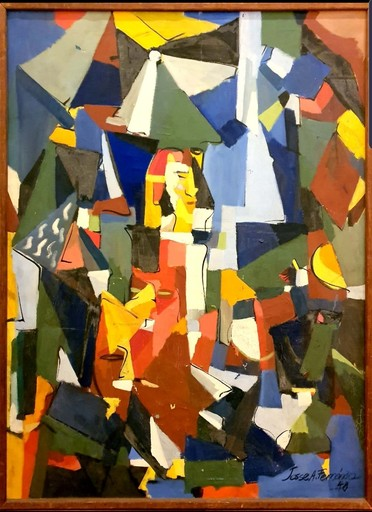 Jesse A. FERNANDEZ - Painting - LANDSCAPE WITH FIGURES