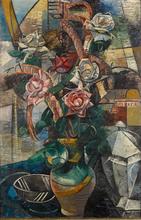 Auguste HERBIN - Peinture - Les roses