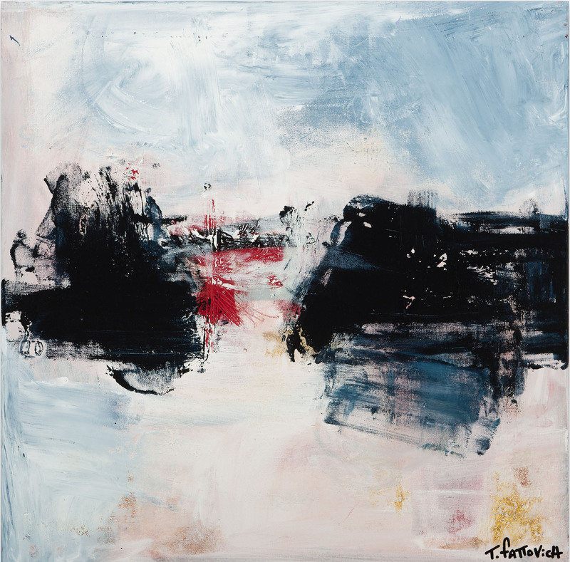 Tommaso FATTOVICH - Painting - Untitled - Black