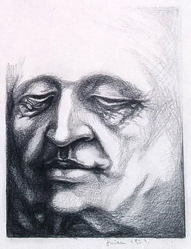 Tudor ONICA - Drawing-Watercolor - études 4 visages 3 avril