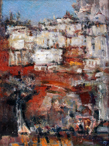 Levan URUSHADZE - Peinture - Alfama. Lisbon