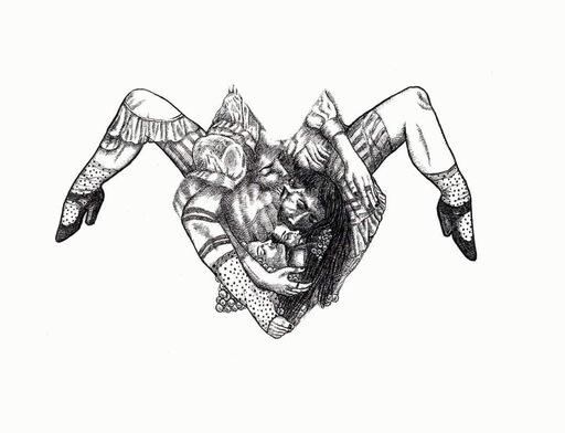 Sandra GHOSN - Zeichnung Aquarell - Etreintes sportives
