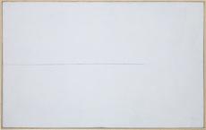 Mario NIGRO - 绘画 - Da l'orizzonte: una variazione azzurro-verde
