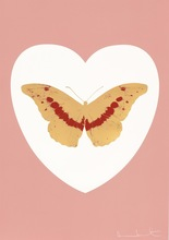 Damien HIRST (1965) - I Love You - White/Pink/Cool Gold/Poppy Red 2