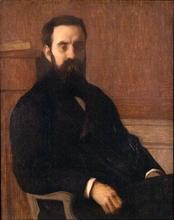 Edmond AMAN-JEAN - Painting - Portrait of Doctor Michaux