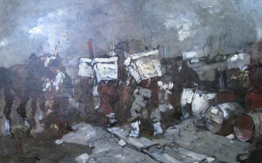 Alessio ISSUPOFF - Painting - Scaricatori