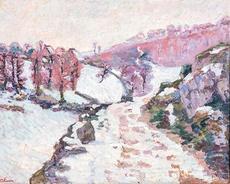 Armand GUILLAUMIN - 绘画 - Gelée blanche à Crozant