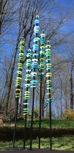 Susan RANKIN - Scultura Volume - Standing Grove in Blues and Greens