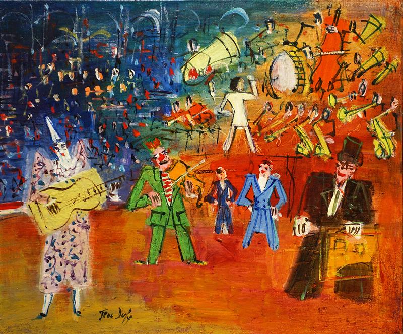 Jean DUFY - Painting - Le trouble-fête