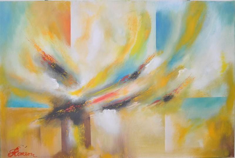 Romeo DOBROTA - Painting - New York, September 11, 2001