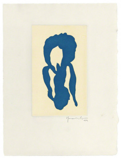 Joan HERNANDEZ PIJUAN - 版画 - Iris blau 10