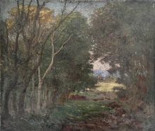Theodore ROBINSON - Peinture - sous bois