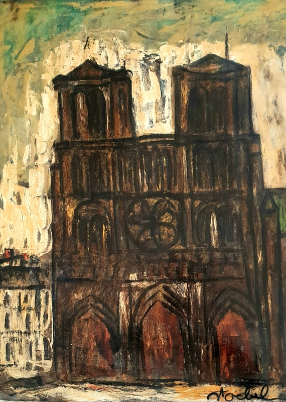 Edgar STOEBEL - Painting - Notre Dame, Paris
