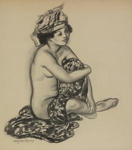 Georges MANZANA-PISSARRO - 水彩作品 - Créole au turban