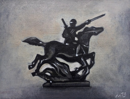 Damir MURATOV - Painting - Rider
