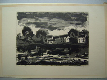 Maurice DE VLAMINCK (1876-1958) - L'Oise à Sergy