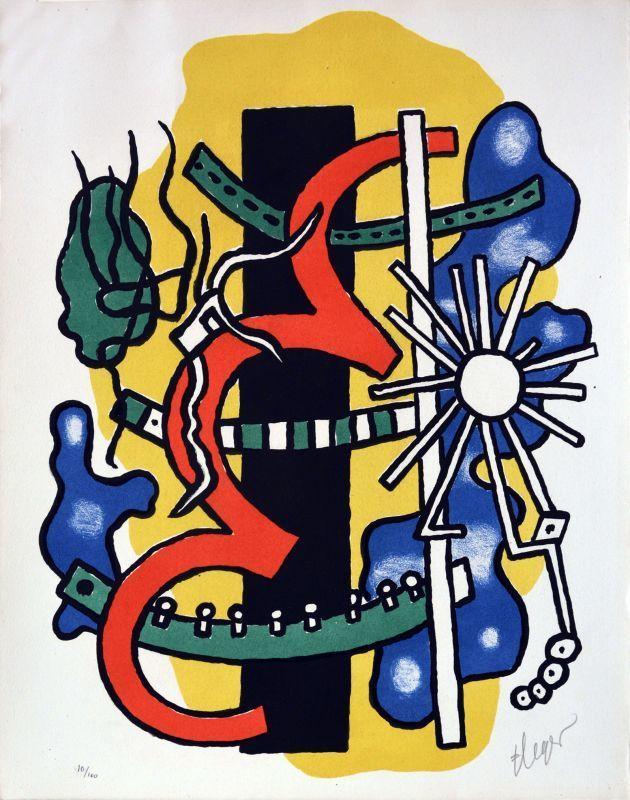 Fernand LÉGER - Grabado - Composition