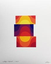 Julio LE PARC - Drawing-Watercolor - Collage #11