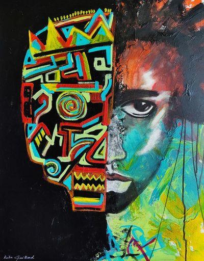 Katie GUITTARD - Peinture - BASQUIAT 5