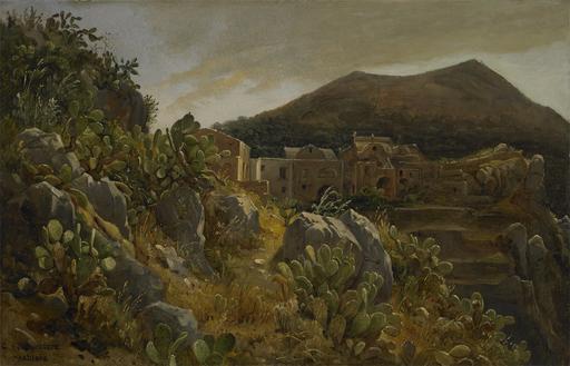 Carl MORGENSTERN - Painting - Opuntienhügel auf Capri, um 1835/36.