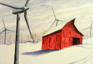 Julio FIGUEROA BELTRAN - Painting - Study for the Red Blizzard