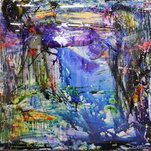Cédric BOUTEILLER - Peinture - Blue lagoon light