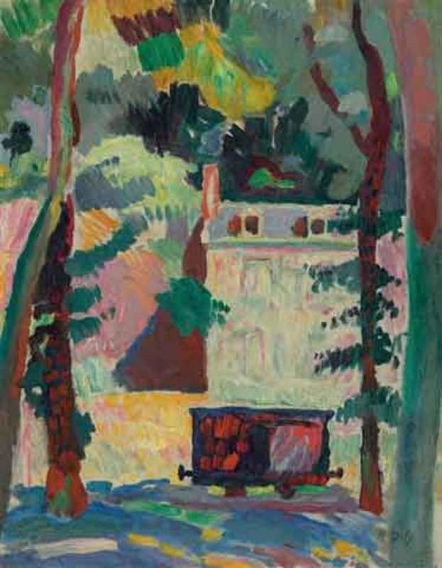 Raoul DUFY - Peinture - Le petit Wagon
