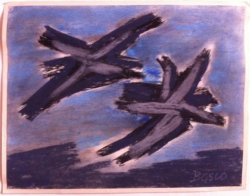 Pierre BOSCO - Drawing-Watercolor - Les oiseaux