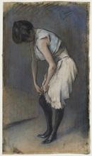 Julio GONZALEZ - 水彩作品 - Jeune femme à sa toilette