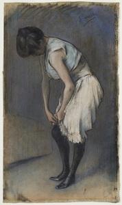 Julio GONZALEZ - Drawing-Watercolor - Jeune femme à sa toilette