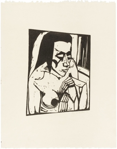 Erich HECKEL - Print-Multiple - Hockende