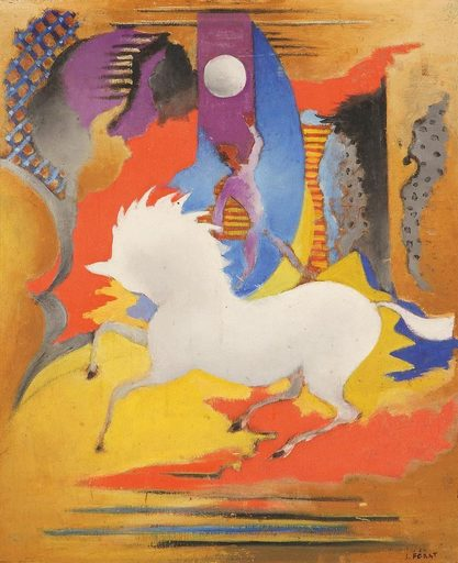 Serge FÉRAT - Painting - Cheval fantastique