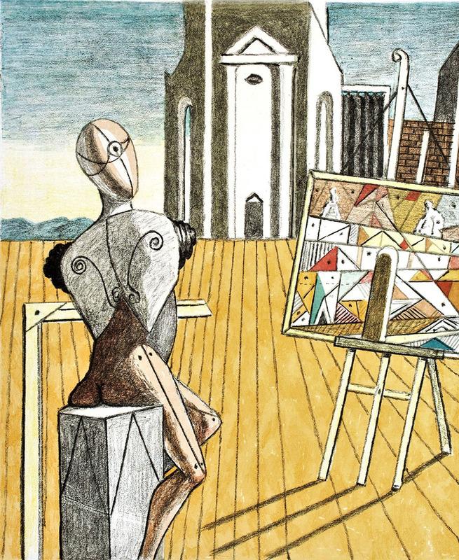 乔治•德•基里科 - 版画 - L'Architetto metafisico,1970
